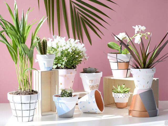 10 способов украсить цветочный горшок